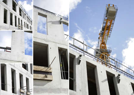 Collage of a building site Stock Photo - 11575749