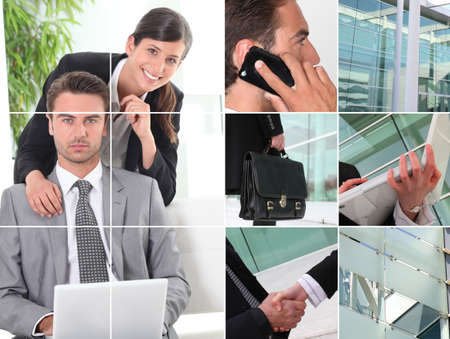 snapshots of people working in office Stock Photo - 11602982