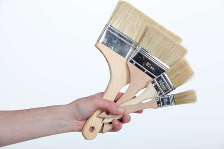 yourselfer: female hand holding out brushes