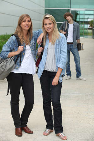 Teenagers standing outside Stock Photo - 11603997