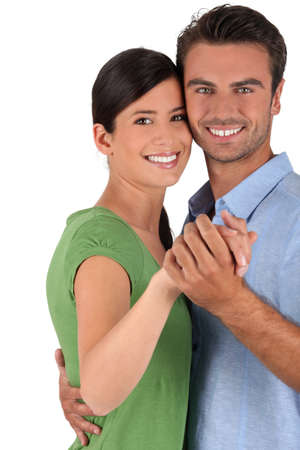 salsa dance: Couple dancing together Stock Photo