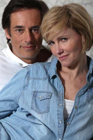 teasing: portrait of a couple Stock Photo