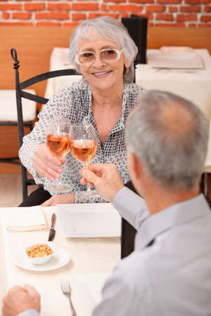 happy occasion: Couple making a toast