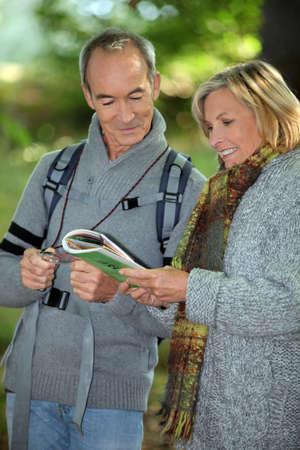 Couple orienteering photo