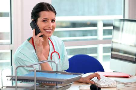 Pacjent: pielÄ™gniarka sekretarka telefon