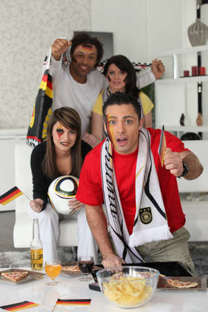 encourage: Supporters of Germany soccer team