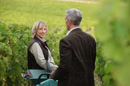 proprietor: Couple in a vineyard