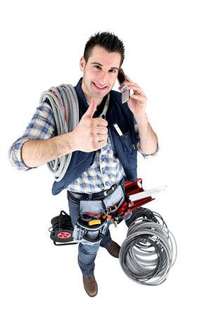 cabling: Handyman giving the thumb