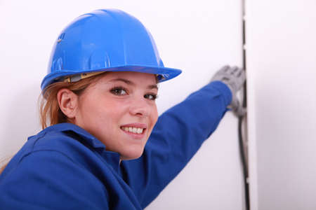 wirework: Female electrician