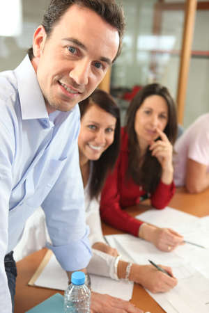 estimated: A dynamic and energetic team Stock Photo