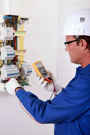 portrait of an electrician Stock Photo - 11605325