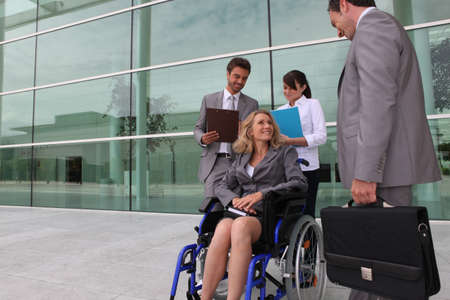 employee in wheelchair photo