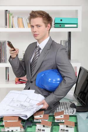 planos arquitecto: Me tengo que ir en el sitio Foto de archivo