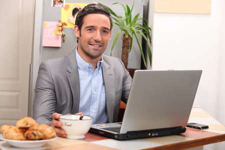 portrait of a businessman at home Stock Photo - 11610632