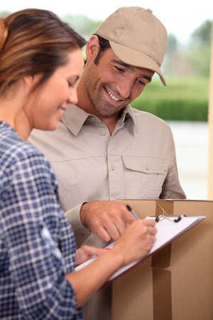 Man delivering parcel photo