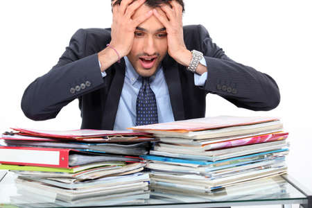 workload: Stressed teacher