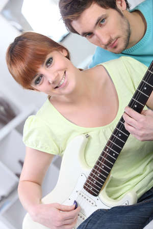 melodious: girl with bass and boyfriend