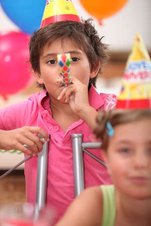 kids on a birthday party photo