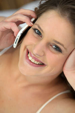 young woman at phone Stock Photo - 11613114