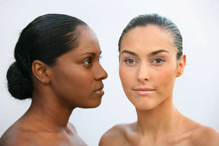 African and Caucasian women Stock Photo - 11612612