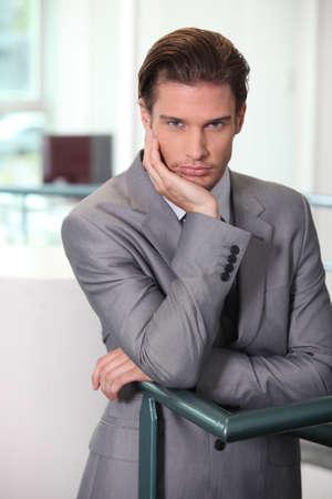 Businessman waiting photo