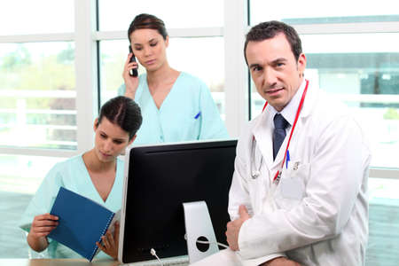 medical records: A team of medical professionals at work