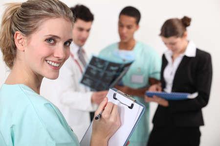staff medico: Il personale medico Archivio Fotografico