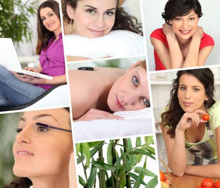 health collage: Woman wellness