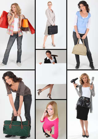 self contained: modern young women Stock Photo