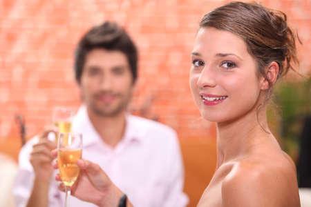 Couple celebrating photo