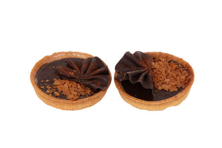 duo of delicious chocolate tartlets photo