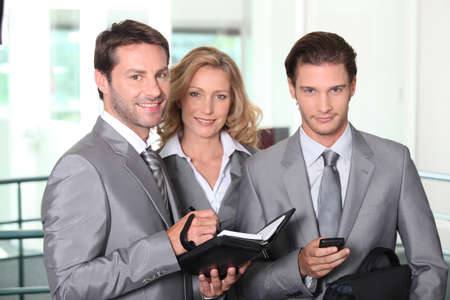 35 40 years: Business colleagues smiling