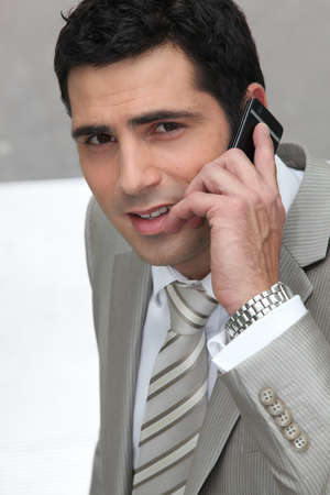 30 years: Executive using a cellphone