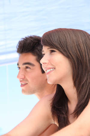 blithe: Young couple on holiday together