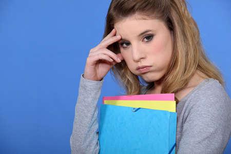 Porträt eines Fed-up Student