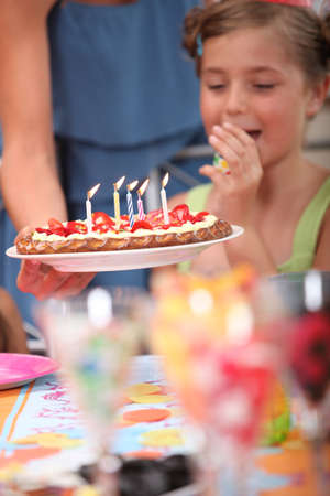 make a gift: Little girl birthday party Stock Photo