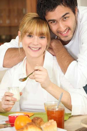 so: Breakfast in couple