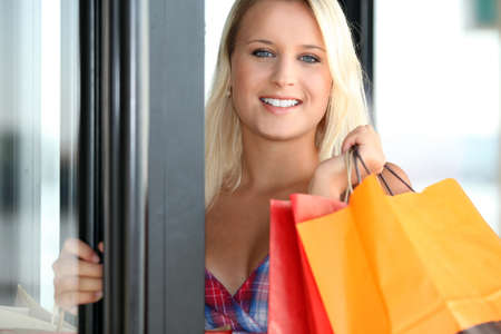 young woman shopping Stock Photo - 11754903