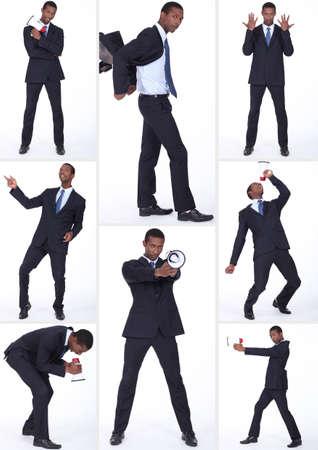 gestural: Man with loudspeaker