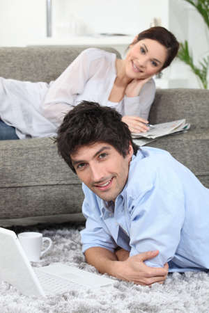 spare time: Couple enjoying their spare time together Stock Photo