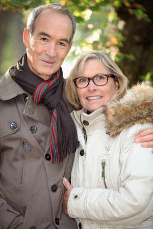 Senior couple in the park photo