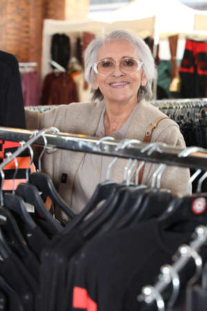 Elderly woman shopping Stock Photo - 11755450