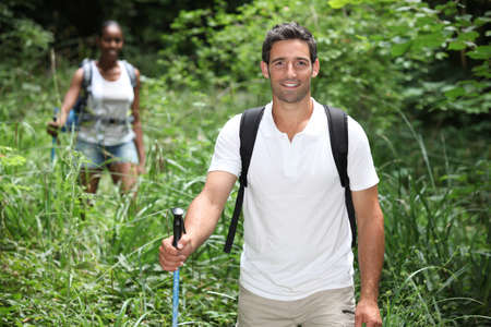 Couple hiking Stock Photo - 11757302