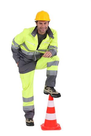 calzado de seguridad: retrato de los trabajadores