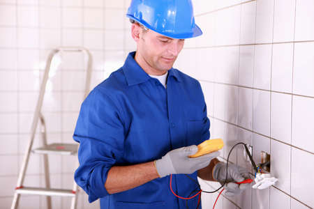 manful: electrician working