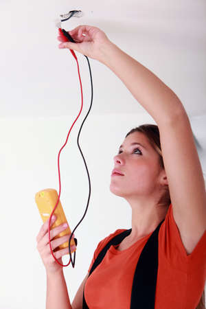 female electrician working photo