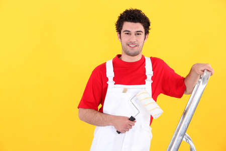 dungarees: Portrait of a professional house painter