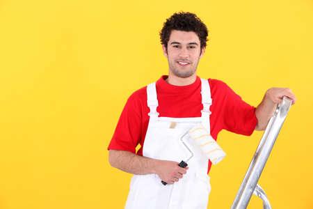 pintor: Retrato de un pintor profesional de la casa