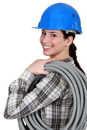 flexi: Female electrician