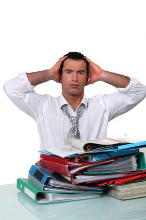 overwhelmed worker Stock Photo - 11774697